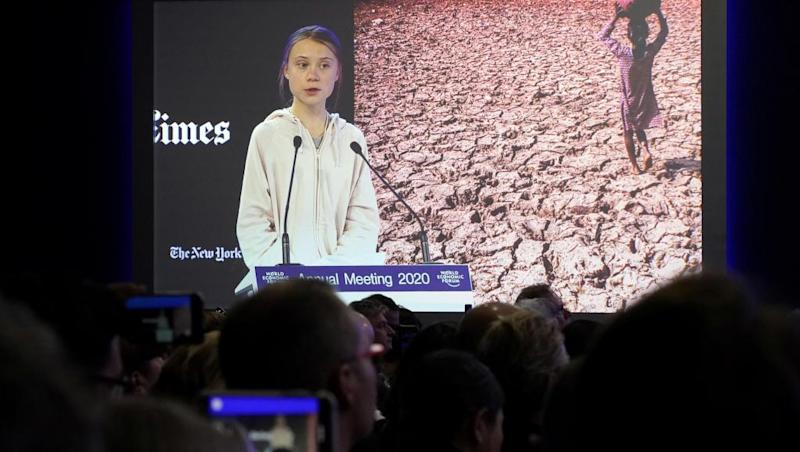 Davos: Thunberg slams climate inaction as Trump rejects 'prophets of doom'