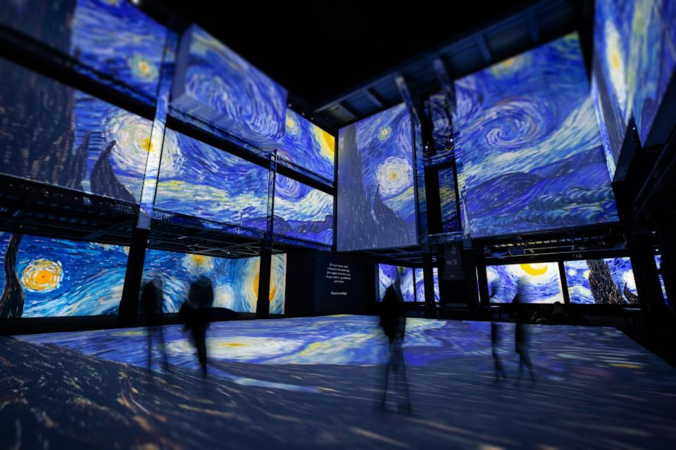 <p>An exhibition featuring artworks by 19th century Dutch master Vincent Van Gogh that employs high-definition image projection technology will be held in Taipei early next year, the show's organizer said Thursday. (Courtesy of JUSTLIVE)</p>