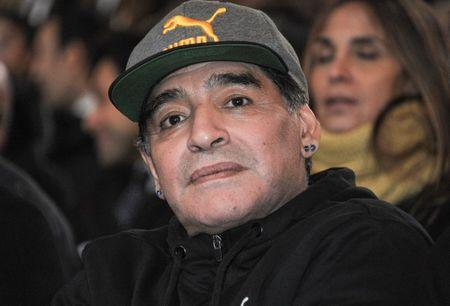 Argentinian soccer legend Diego Armando Maradona attends the Italian soccer Hall of Fame 2017 event in Florence, Italy, January 17, 2017. REUTERS/Paolo Lo Debole