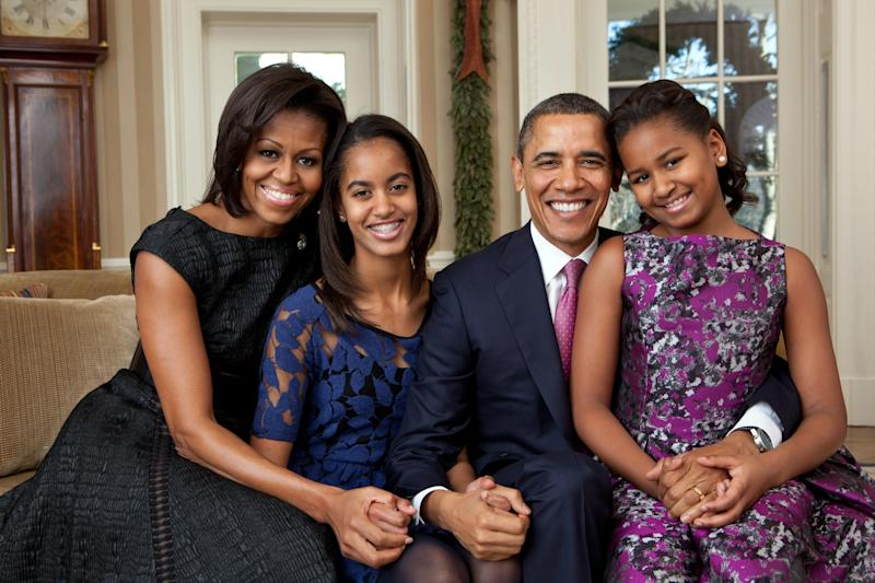 Barack Obamaspoke about how he and Michelle talk to Malia and Sasha about being leaders. (Handout via Getty Images)