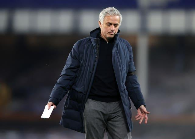 Jose Mourinho during the game