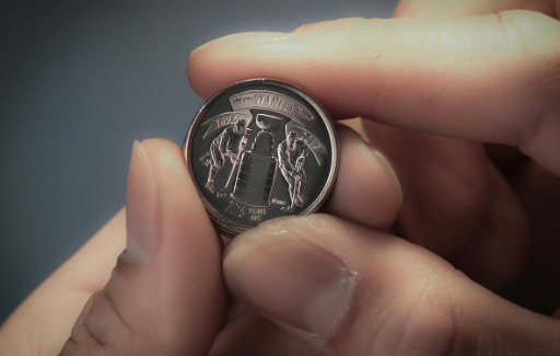The Royal Canadian Mint commemorates 125 years of Stanley Cup glory with a brand new quarter. (Twitter/@CanadianMint)