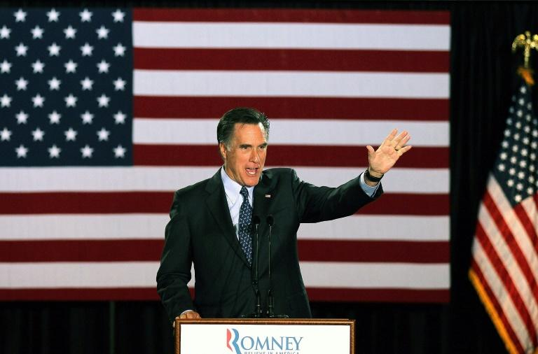 Republican Senator Mitt Romney, seen here in 2012 as he was running for president against Barack Obama, is a fierce critic of Donald Trump but seems unlikely to challenge him for the nomination (AFP Photo/SCOTT OLSON)