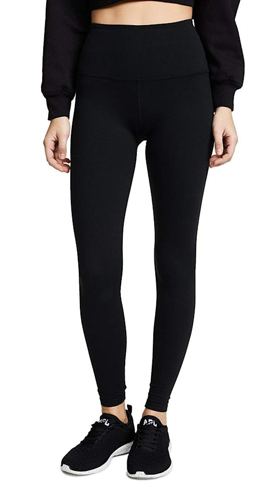 "<p>You can't go wrong with these classic <a href=""https://www.popsugar.com/buy/Beyond-Yoga-Supplex-High-Waist-Midi-Leggings-507975?p_name=Beyond%20Yoga%20Supplex%20High%20Waist%20Midi%20Leggings&retailer=amazon.com&pid=507975&price=88&evar1=fit%3Auk&evar9=46823514&evar98=https%3A%2F%2Fwww.popsugar.com%2Ffitness%2Fphoto-gallery%2F46823514%2Fimage%2F46823670%2FBeyond-Yoga-Supplex-High-Waist-Midi-Leggings&list1=shopping%2Camazon%2Cworkout%20clothes%2Cyoga%2Cleggings&prop13=api&pdata=1"" rel=""nofollow"" data-shoppable-link=""1"" target=""_blank"" class=""ga-track"" data-ga-category=""Related"" data-ga-label=""https://www.amazon.com/Beyond-Yoga-Womens-Waisted-Leggings/dp/B071HQF66P?s=shopbop&amp;ref_=sb_ts&amp;th=1&amp;psc=1"" data-ga-action=""In-Line Links"">Beyond Yoga Supplex High Waist Midi Leggings</a> ($88).</p>"