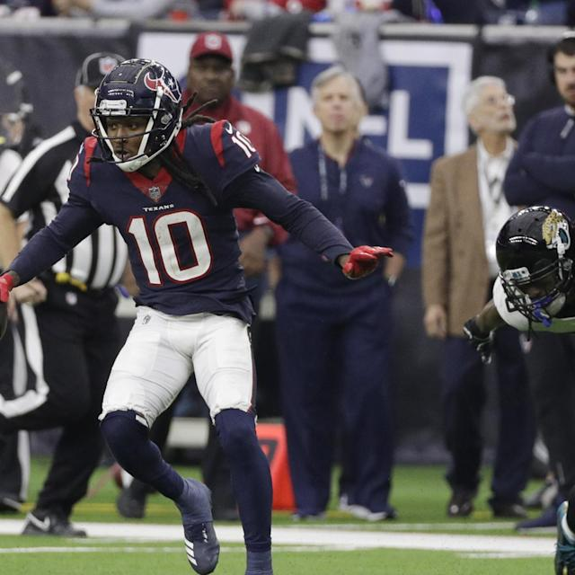 Report: DeAndre Hopkins Broke Rib in Texans' Loss to Chiefs, Played with Injury
