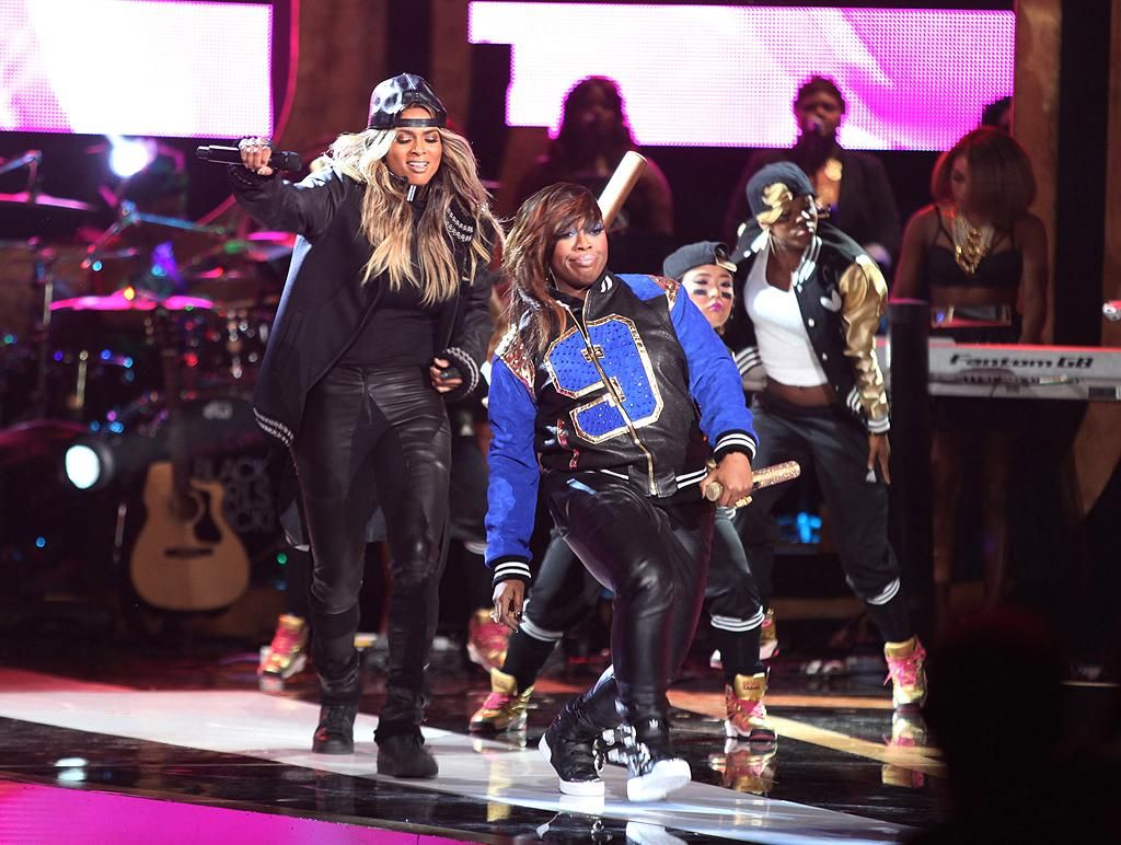 """Ciara and Missy Elliot stole the show with their energetic performance of '""""1, 2 Step."""" After they were finished, Ciara was feeling inspired and showed some love for her collaborator, tweeting, """"I love my friend Missy Elliott so much! She is such an inspiration 2 me, in so many ways."""" (10/13/2012)"""