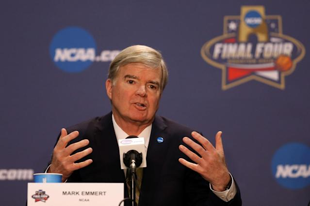 NCAA president Mark Emmert wants an eight-team playoff. (Getty)