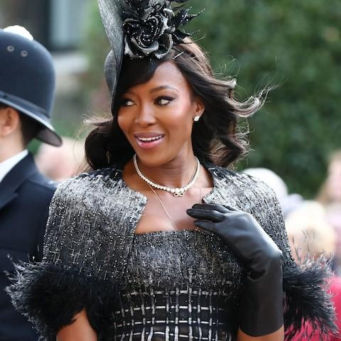 Naomi Campbell arrives ahead of the wedding - Credit: PA