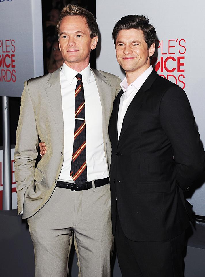 The always dapper Neil Patrick Harris and his boyfriend David Burtka left their twins at home so they could enjoy a night out on the town! (01/11/2012)