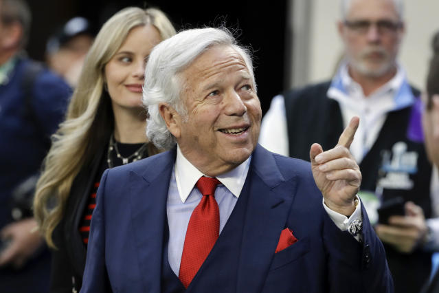 Patriots owner Robert Kraft visited rapper Meek Mill in prison alongside 76ers minority owner Michael Rubin. (AP)