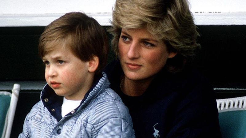 William with his mother. Source: Getty