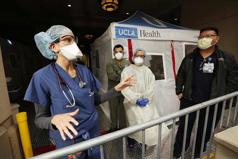 Dr. Lisa Dabby, 41, is an emergency room physician with UCLA Medical Center in Santa Monica and on the front line of the COVID-19 outbreak.