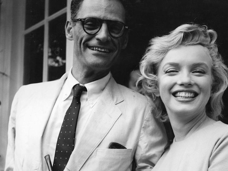 Arthur Miller with Marilyn Monroe outside her home in Surrey's Englefield Green: Getty