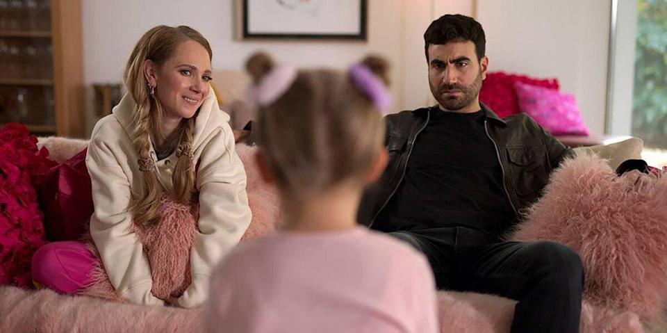 """Juno Temple and Brett Goldstein in """"Ted Lasso,"""" now streaming on Apple TV+."""