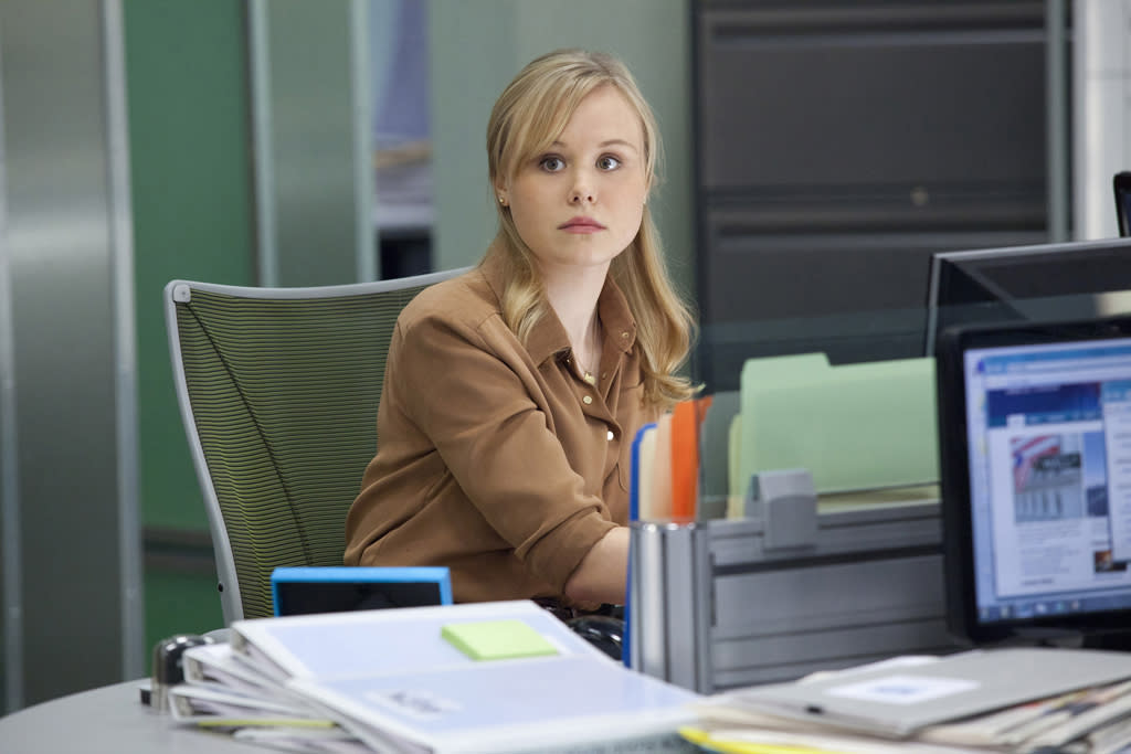 """Alison Pill in """"The Newsroom"""" on HBO."""