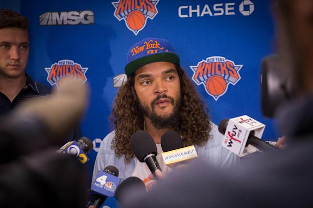 New York Knicks' newest player Joakim Noah has apologised for failing a drug test, resulting in a 20-game ban (AFP Photo/Bryan R. Smith)