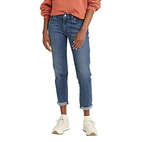 """<p><strong>Levi's</strong></p><p>amazon.com</p><p><strong>$43.11</strong></p><p><a href=""""https://www.amazon.com/dp/B08NV1321S?tag=syn-yahoo-20&ascsubtag=%5Bartid%7C2140.g.37080961%5Bsrc%7Cyahoo-us"""" rel=""""nofollow noopener"""" target=""""_blank"""" data-ylk=""""slk:Shop Now"""" class=""""link rapid-noclick-resp"""">Shop Now</a></p><p>There's nothing more trustworthy in the denim world than a pair of Levi's. These feature a classic wash and straight leg that'll make them the trustworthy pants you throw on at least several times a week.</p>"""