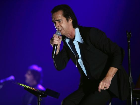 Nick Cave and the Bad Seeds performs at The O2 Arena in 2017 in London (Burak Cingi/Redferns)