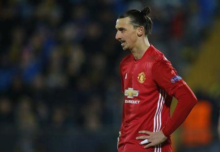Football Soccer - FC Rostov v Manchester United - Europa League Round of 16 First Leg - Olimp-2 Stadium, Rostov-on-Don, Russia - 9/3/17 Manchester United's Zlatan Ibrahimovic  Reuters / Maxim Shemetov Livepic