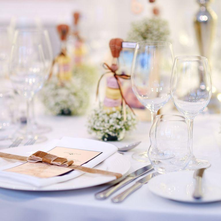 """<p>Surprises during a high stress situation (say, a wedding?) are a no-no. If the couple didn't mention that you could bring someone, don't assume that you can. """"Every person who attends cost money for the bride and groom or their family,"""" says Brian Worley, director of <a href=""""http://bold-events.com/"""" rel=""""nofollow noopener"""" target=""""_blank"""" data-ylk=""""slk:Bold Catering & Design"""" class=""""link rapid-noclick-resp"""">Bold Catering & Design</a>. """"It is also totally awkward when your uninvited guest has no place to sit at the reception.""""</p>"""