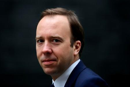 FILE PHOTO: Britain's Secretary of State for Health Matt Hancock is seen outside Downing Street in London