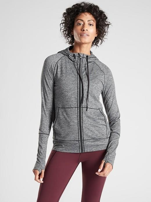 <p>Tie the <span>Athleta Uptempo Hoodie</span> ($69, originally $98) around your waist on walks, hikes, and other outdoor exercise (and know it's super soft for indoor lounging, too).</p>