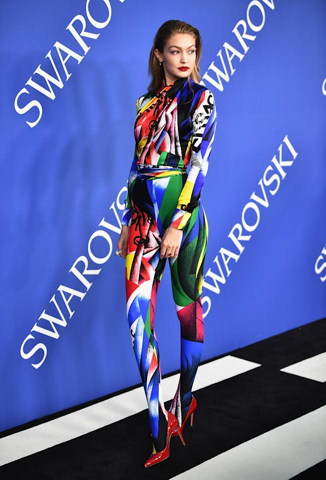 <p>Wearing Versace. <em>[Photo: Getty]</em> </p>