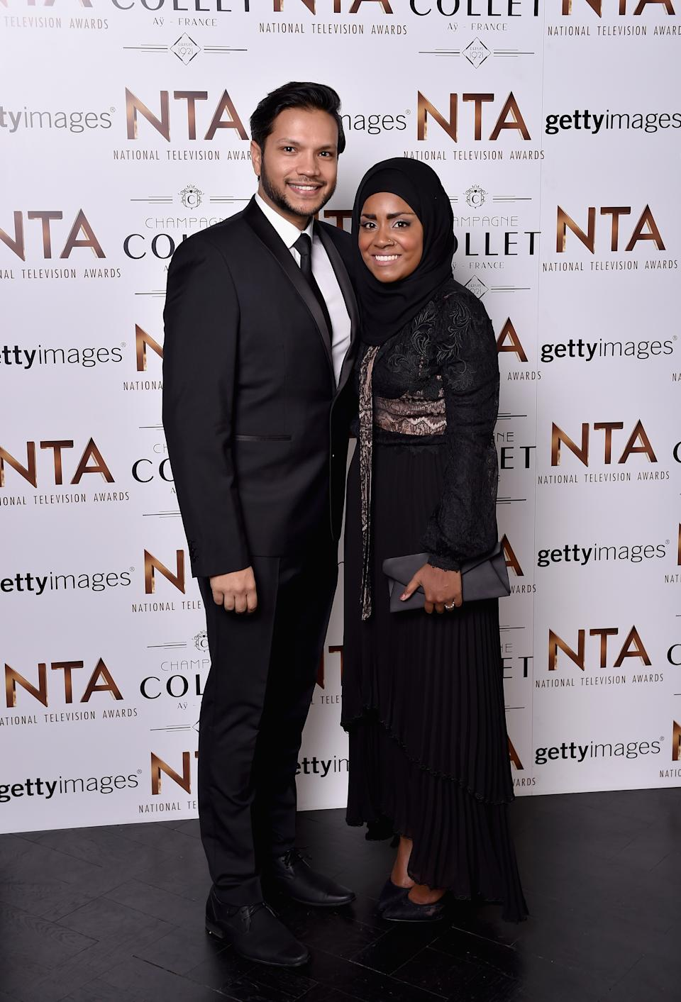LONDON, ENGLAND - JANUARY 20:  Abdal and Nadiya Hussain attend the 21st National Television Awards at The O2 Arena on January 20, 2016 in London, England.  (Photo by Gareth Cattermole/Getty Images)