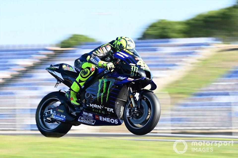 """P17 Valentino Rossi, Yamaha Factory Racing<span class=""""copyright"""">Gold and Goose / Motorsport Images</span>"""