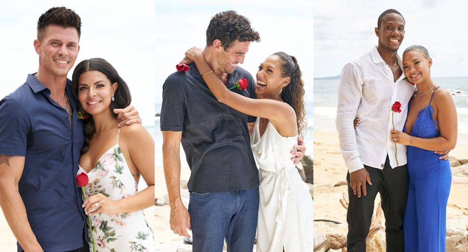 three happy couples got engaged in Tuesday night's Bachelor in Paradise finale