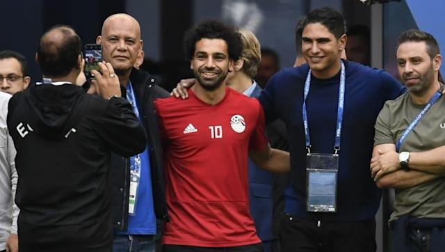 Egypt manager Hector Cuper has given fans an update on the fitness of Liverpool star Mohamed Salah - insisting that the 26-year-old star is fit ahead of a crunch group stage match against Russia on Tuesday. Salah failed to play a single minute of the Pharaohs' 1-0 defeat to Uruguay on Friday as he continues his recovery from the shoulder injury he suffered in last month's Champions League final, but - barring a last minute setback - he should feature against the hosts. Ready for tomorrow....