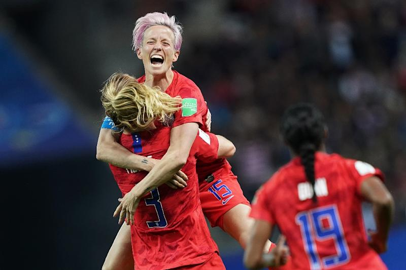 Exuberant American celebrations during a 13-0 victory over Thailand have drawn criticism (AFP Photo/Lionel BONAVENTURE)