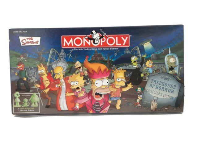 "<p>Based on the famous Simpson episode of the same name, this favorite board game gets a creepy cartoon spin featuring six glow-in-the-dark pieces! Maybe that's why <a href=""https://www.ebay.com/itm/The-Simpsons-Tree-House-of-Horror-Board-Game-Monopoly-New-Sealed-TreeHouse/353032408322?hash=item52325f0d02:g:bR4AAOSwYbNehVWN"" rel=""nofollow noopener"" target=""_blank"" data-ylk=""slk:it's worth"" class=""link rapid-noclick-resp"">it's worth</a> $300?</p>"