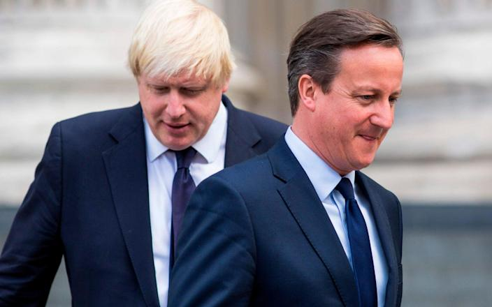 "Boris Johnson said ruling on David Cameron's actions was ""a matter for Nigel Boardman"" - AFP"