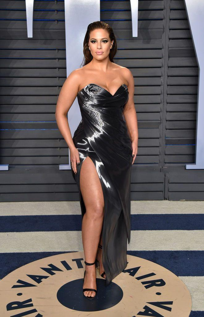 <p>Graham wore a custom made Rubin Singer strapless gown for the afterparty. </p>