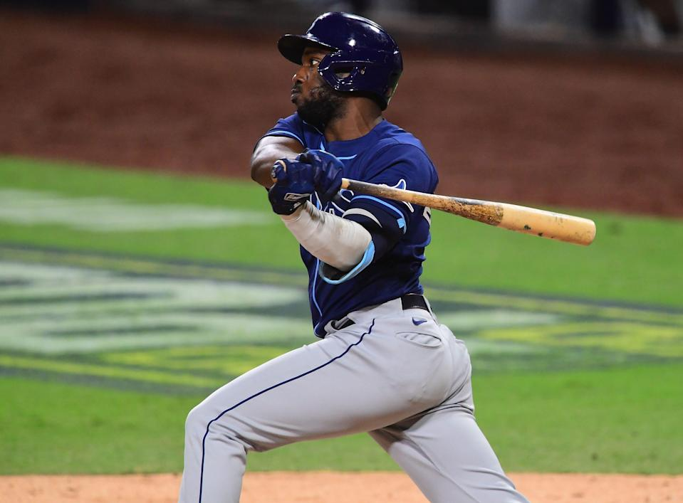 After playing in just 23 regular-season games, Rays outfielder Randy Arozarena hit a playoff-record nine home runs in last year's postseason.