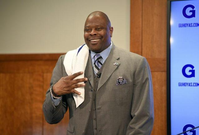 Patrick Ewing at his introductory news conference. (AP)