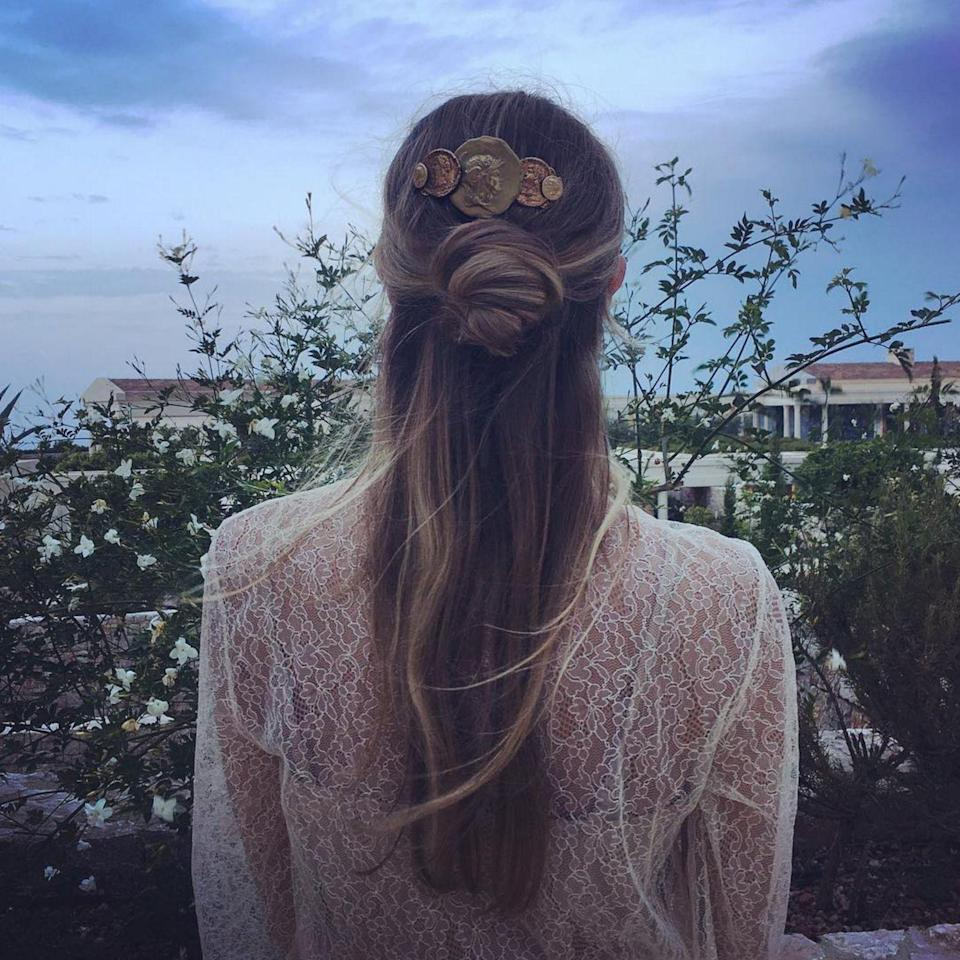 """<p><strong>The Cinnamon Swirl</strong></p><p>If you're into hair twists and <span>chignons, then you'll be into <a href=""""https://www.instagram.com/harleyvnewton/?hl=en"""" rel=""""nofollow noopener"""" target=""""_blank"""" data-ylk=""""slk:Harley Viera-Newton"""" class=""""link rapid-noclick-resp"""">Harley Viera-Newton</a> 's hairstyle in a big way. This year saw the introduction of """"the hun"""" – that's a half up/half down 'do, incorporating a bun – but Harley takes the hun to new heights here. Watch and learn.</span></p><span class=""""copyright"""">Photo: via @harleyvnewton.</span>"""