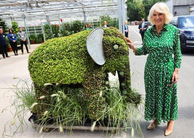 The Duchess of Cornwall at Hyde Par