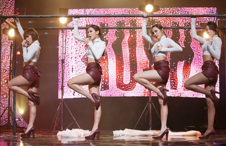 <p>Miss A performs onstage during the music show Mnet M Count Down in Seoul, South Korea. (Photo: STARNEWS AFP) </p>