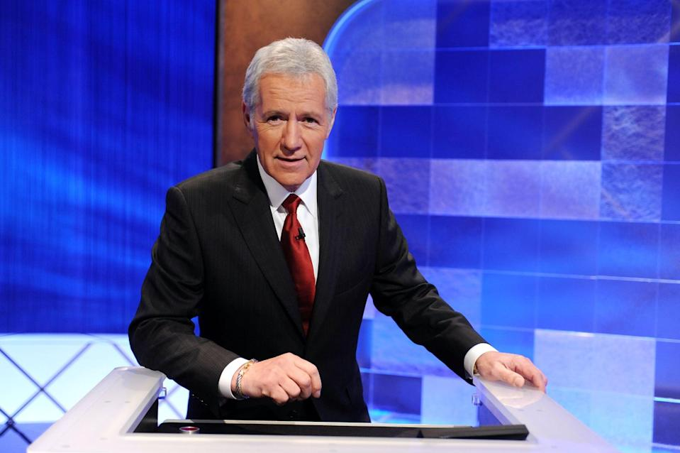"""<p>The <b>Jeopardy!</b> host died at age 80 after a battle with stage four pancreatic cancer. """"<b>Jeopardy!</b> is saddened to share that Alex Trebek passed away peacefully at home early this morning, surrounded by family and friends,"""" the show's official account tweeted on Nov. 7. """"Thank you, Alex.""""</p>"""