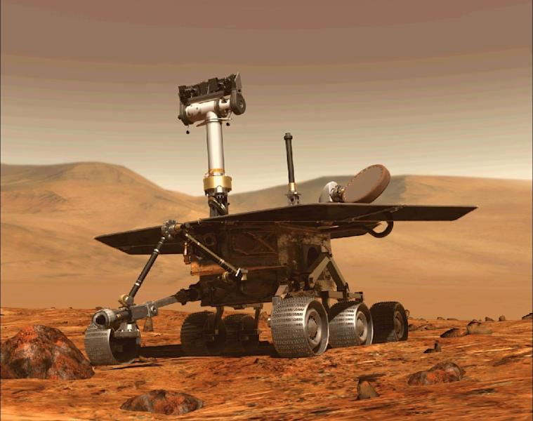 Opportunity, NASA's six-wheeled Mars rover (AFP Photo/-)