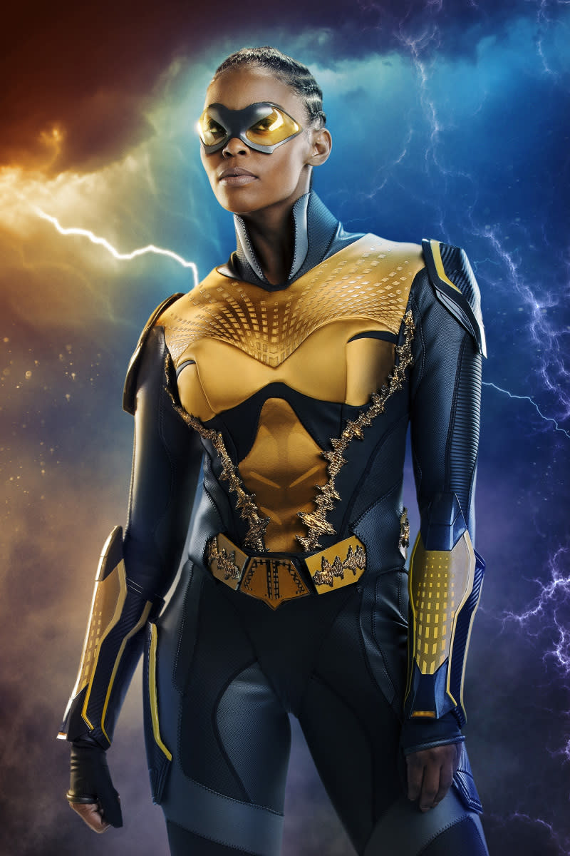 Nafessa Williams as Thunder in <em>Black Lightning</em>. (Photo: Bob Mahoney/The CW ©2018 The CW Network, LLC. All rights reserved.)