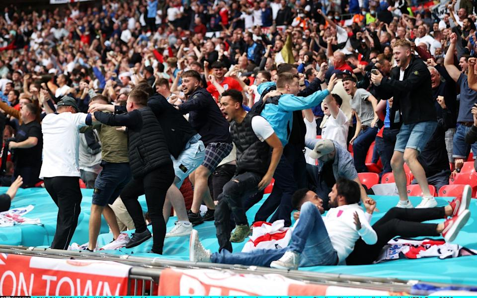 England fans celebrate - Getty Images Europe