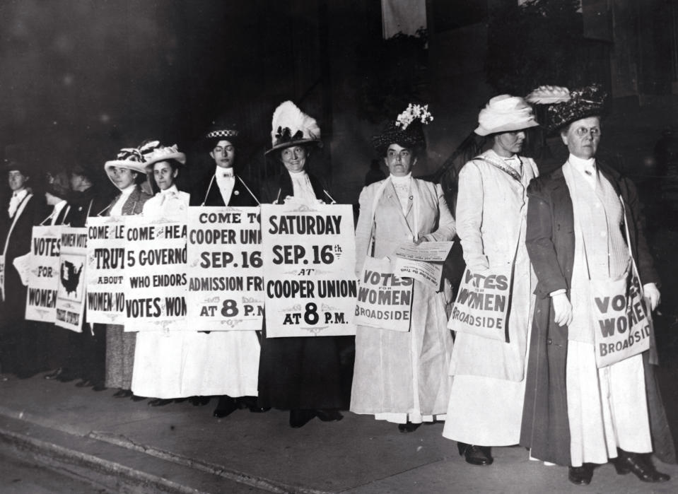 """""""There have been r<span>ace, class, and other conflicts from the beginning, with the suffragists,"""" says Zakiya Luna of UC Santa Barbara. (Photo: Getty Images archive)</span>"""