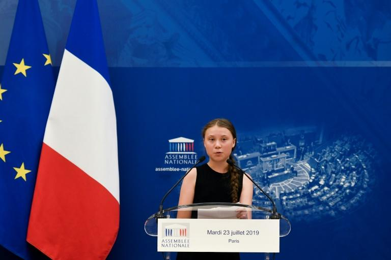 Thunberg tackled her critics directly in her speech to members of the French National Assembly