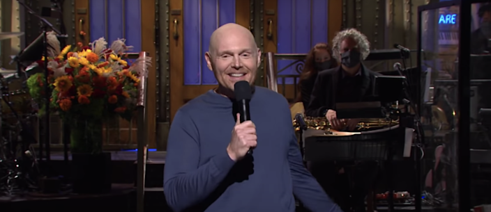 "Bill Burr hosting ""Saturday Night Live"" on Oct. 10, 2020."