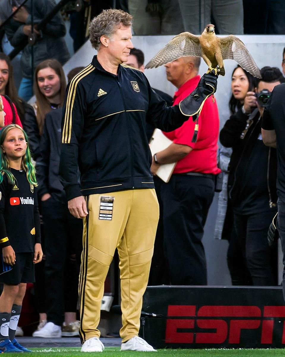"""<h1 class=""""title"""">March 4: Will Ferrell</h1> <div class=""""caption""""> Will Ferrell in the only appropriate soccer game outfit—a tracksuit and a falcon. </div> <cite class=""""credit"""">Ed Ruvalcaba</cite>"""