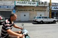 Lebanese pharmacies have staged a nationwide strike to protest the severe shortage of medicine