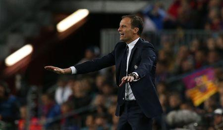 Football Soccer - FC Barcelona v Juventus - UEFA Champions League Quarter Final Second Leg - The Nou Camp, Barcelona, Spain - 19/4/17 Juventus coach Massimiliano Allegri Reuters / Albert Gea Livepic
